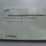 Vauxhall Corsa & Combo Owner's Manual January 2000 Edition